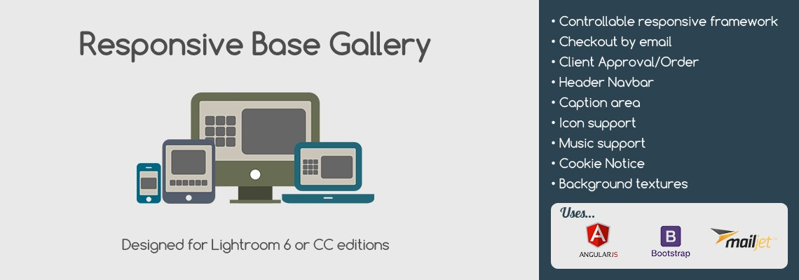 Responsive Base Gallery for Lightroom