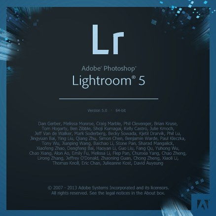 Lightroom 5 Splash Screen